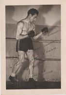 .BOXING.BOKSEN. PHOTO. Gde  12CM X 17CM  BOXEUR  A IDENTIFIER  Serge PALTINIERI ??   SIGNEE 1948 - Boxing