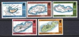 Alderney, Yv 37/41, Carte De L'île  à Travers Les âges ** - Géographie