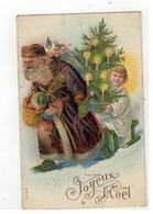Joyeux Noël Kerstman  SER 127 Reliëfkaart - Santa Claus