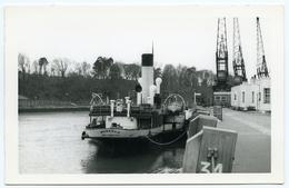 POSTCARD SIZE PHOTO : PADDLE STEAMER - MONARCH AT WEYMOUTH, 1961 - Boats