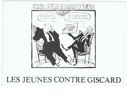 """ Les Jeunes Contre Giscard "" / 1980 / Dessin De Cabu / Poniatowski ... - Cabu"