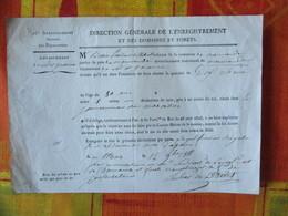 AGEN LE 12 9bre 1818 LE GARDE GENERAL FORESTIER ROYAL DECLARATION DE FAIRE ABATTRE DIX CHENE DE 80 Ans 1 METRE DE DIAMET - Documenti Storici