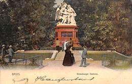 Basel - Strassburger Denkmal (animation, Colors, Rathe & Fehlmann 1902) - BS Bâle-Ville
