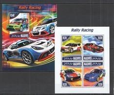 ML684 2014 MALDIVES TRANSPORT AUTOMOBILES CARS RALLY RACING  KB+BL MNH - Cars