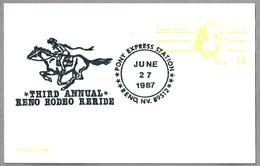 Third Annual Reno Rodeo Reride - PONY EXPRESS STATION. Reno NV 1987 - Correo Postal