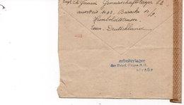 LAC 1943 - Censure - Geoffnet DKW - Au Dos Griffe ARBEILTAGER  Der Fried.Krups A.G. Strasse - ESSEN Sur YT 717 - Germany