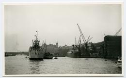 POSTCARD SIZE PHOTO : HARBOUR SCENE, PORT OF LONDON - Bateaux
