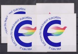 Autocollant, 4x éléction Du Parlement Européen 1984.. - Stickers