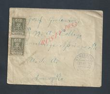 POLOGNE LETTRE SUR PAIRE DE DOUBLES TIMBRES OB STRZEGOWO : - ....-1919 Provisional Government