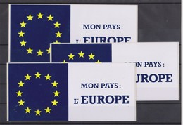 Autocollant, 3x Mon Pays L'Europe.. - Stickers