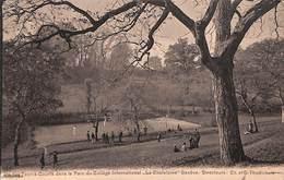 Genève - Un Des Tennis-Courts Dans Le Parc Du Collège La Chatelaine (Jullien Frères 1917) - GE Geneva