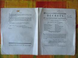 DECRETS DE LA CONVENTION NATIONALE DES 5,7,8,10 &14e JOURS DU 2e MOIS DE L'AN SECOND QUI CHANGENT LES NOMS DES COMMUNES - Décrets & Lois