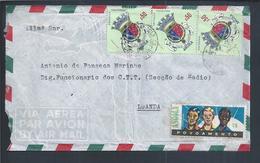 Carta Do Lobito Com Obliteração 'URB-Lobito' Angola. Stamps Brasão Cidade De Carmona. Ramo E Bagas De Café. Coffee. 2sc - Angola