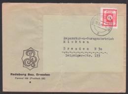 Germany SBZ 46A, 12 Pfg. OPD Ost-Sachsen Radeburg, 17.9.45 Bf. Mittig Gefaltet - Zone Soviétique