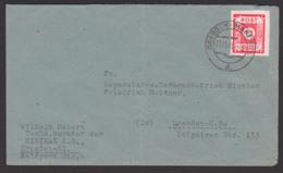 Germany SBZ 46A, 12 Pfg. OPD Ost-Sachsen Dresden-Blasewitz, Abs. MINIMAX Berater, Bf Mittig Gefaltet - Sowjetische Zone (SBZ)