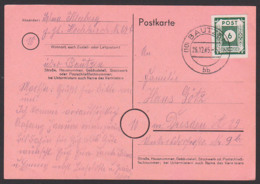 Germany SBZ 43B, 6 Pfg. OPD Ostsachsen Bautzen 26.12.45 Portogenau, Fernkarte - Sowjetische Zone (SBZ)