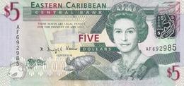 EAST CARIBBEAN STATES 5 DOLLARS ND(2008) Pick 47 Unc - Ostkaribik