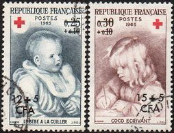 Réunion Obl. N° 366 Et 367 - Croix Rouge - Tableaux De Renoir - Réunion (1852-1975)
