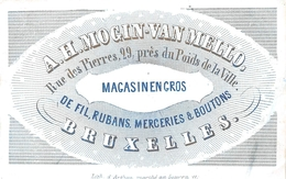 Porceleinkaart  - A.H. Mogin-Van Mello - De Fil Rubans Mrceries & Boutons - Brussel - Bruxelles - 10x6 Cm - Straßenhandel Und Kleingewerbe