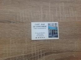 Ancienne Carte De Visite De Café  Bar   Le Concorde   Paris 19eme - Tarjetas De Visita