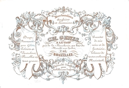 Porceleinkaart  - Marchandises Anglais Et Ecossaises CH. Genis  - Brussel - Bruxelles - 10x6 Cm - Petits Métiers