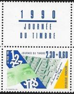 FRANCE 1990 JOURNEE DU TIMBRE. Yvert N° 2640 Avec Logo Millesime Attenant Issu Du Carnet. ** Neuf Sans Charnière. MNH - France
