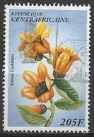 Central African Republic 1997. Scott #1141a (U) Flower, Bomax Costatum - Repubblica Centroafricana