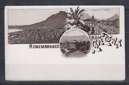 "Kap Der Guten Hoffnung Um 1900 Braun-Litho "" Remebrance From Cape Town "" , Ungebraucht - Südafrika"