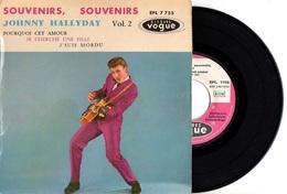 FRENCH EP JOHNNY HALLYDAY - 1960 VOGUE EPL 7755 - SOUVENIRS SOUVENIRS + 3 - TB ETAT - SPECIAL GUILDE INTERNAT DU DISQUE - Rock