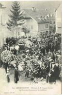DOUBS 25.HERIMONCOURT OBSEQUES DE M. EUGENE PEUGEOT LES CHARS DES COURONNES ET LE CORBILLARD - Frankreich