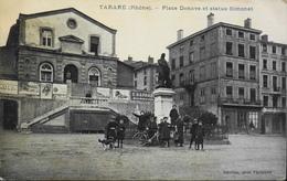 C.P.A. - FR. [69] Rhône > Tarare > Place Denave Et Statue Simonet - Très Animée Daté 1914 - BE - Tarare