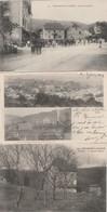 3 CPA:ROUGEMONT LE CHATEAU (90) SAINT NICOLAS NOUVEAU CHÂTEAU,USINES ERHARD ET VINCKLER,CONCERT MILITAIRE - Rougemont-le-Château