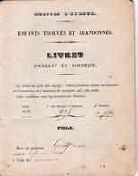 1860 - HOSPICE D'ÉVREUX - ENFANTS TROUVES & ABANDONNES - Livret D'enfant En Nourrice - FILLE - Documenti Storici
