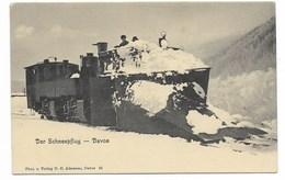 DAVOS-Der Schneepflug...  Animé  Train... - GR Grisons