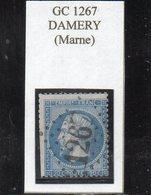 Marne - N° 22 (déf) Obl GC 1267 Damery - 1862 Napoléon III