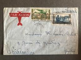 Congo 1938 Lettre Enveloppe Lettre Daguin Au Coeur De L' Afrique Noire Pour Châteaulin Cover Brazzaville - Congo Francese (1891-1960)