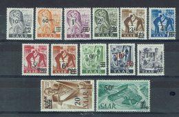 Sarre - 1947 - Série Surchargée N° 216-228 - Neufs X Infimes Traces De Charnières - TB - - 1947-56 Ocupación Aliada