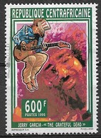 Central African Republic 1995. Scott #1098 (U) Entertainer, Jerry Garcia (Grateful Dead) - Repubblica Centroafricana