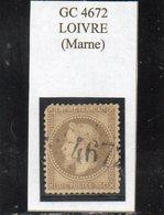 Marne - N° 30 (coin Défx) Obl GC 4672 Loivre - 1863-1870 Napoléon III Lauré