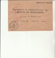 H 4 - Enveloppe Gendarmerie De L'armement    Avec Cachet  Flamme PARIS TRI ARMEES - Marcofilie (Brieven)