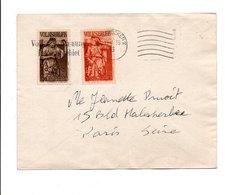 SARRE AFFRANCHISSEMENT COMPOSE SUR LETTRE POUR LA FRANCE 1935 - 1920-35 Sociedad De Naciones