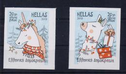 GREECE STAMPS 2019/CHRISTMAS 2019/SELF ADHESIVE STAMPS(2 Pcs)-MNH-  25/11/19-COMPLETE SET - Grecia