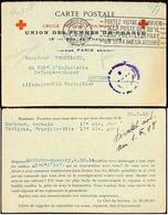 Croix-Rouge Union Des Femmes De France Flamme Paris XVII - Postmark Collection (Covers)