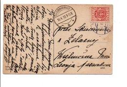 POLOGNE CARTE INTERIEURE DE SKIERNIEWICE 1919 - ....-1919 Provisional Government
