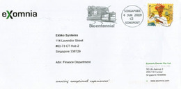 Tramway. Singapore Bicentennial 1819-2019, On Letter From EXomnia Pte. Singapore - Strassenbahnen
