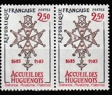 FRANCE   Tricentenaire De La Révocation De L'Edit De Nantes   Paire    N° Y&T  2380  ** - France