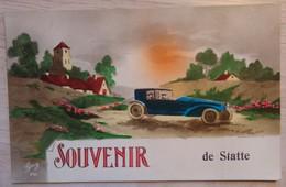 """Statte """"HUY"""" - Souvenir De Statte - Automobile - Ed: GUY - N° 241 - Colorisé - Circulé: 1928 - 2 Scans. - Hoei"""