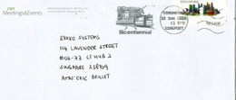 Tramway. Singapore Bicentennial 1819-2019, On Letter From CWT.Meeting & Events Pte. Singapore - Tramways