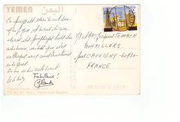Yemen Carte + Timbre Cachet 1993 - Yémen