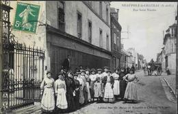 C.P.A. - FR. [78] Yvelines > Neauphle Le Chateau - Rue St-Nicolas Très Animée - Daté 1903 - TBE - Neauphle Le Chateau